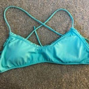 Light blue swim top